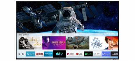 Smart TVs da Samsung ganham aplicativos Apple TV e AirPlay 2