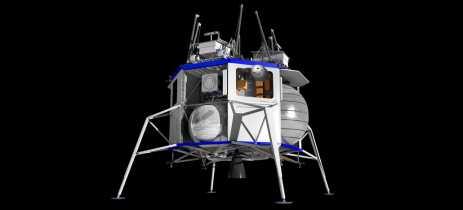 Evento da Blue Origin detalha missão para a lua que vai ser feita com a nave Blue Moon