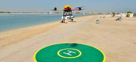 Prefeitura de Dubai desenvolve drone salva-vidas The Flying Rescuer