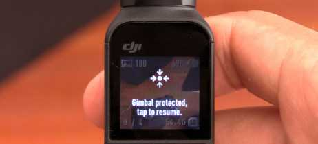 DJI Osmo Pocket: Gimbal Protect Tap to Resume erro e como corrigir