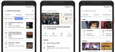 Google lança recurso de busca de eventos para mobile no Brasil