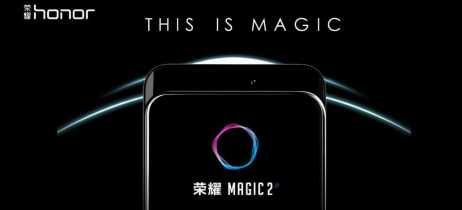 Honor Magic 2 aparece em novas imagens mostrando câmera traseira tripla e frontal retrátil