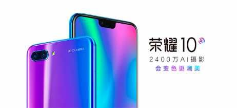 Huawei lança Honor 10 na China com tela de 5,84'' e câmeras com IA