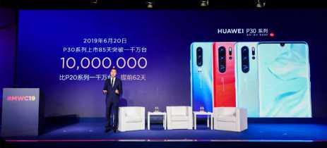Série P30 da Huawei bate 10 milhões de vendas em 85 dias - dois meses mais rápido que os P20