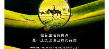 Huawei está divulgando o lançamento do P30 e P30 Pro com banners mostrando fotos com super zoom
