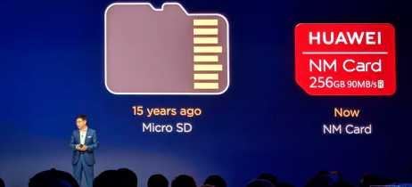 Huawei apresenta substituto para microSD durante lançamento de seus novos smartphones