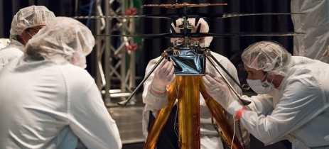Mars Helicopter, o drone da Nasa que será enviado para Marte, passa por testes de voo