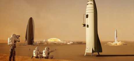 Elon Musk promete que SpaceX vai construir sua primeira base em Marte até 2028