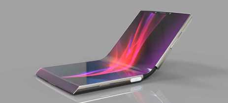Sony registra patente para smartphone dobrável com sensores na tela