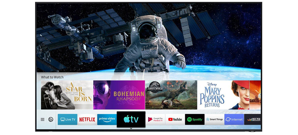 Smart TVs da Samsung ganham aplicativos Apple TV e AirPlay 2