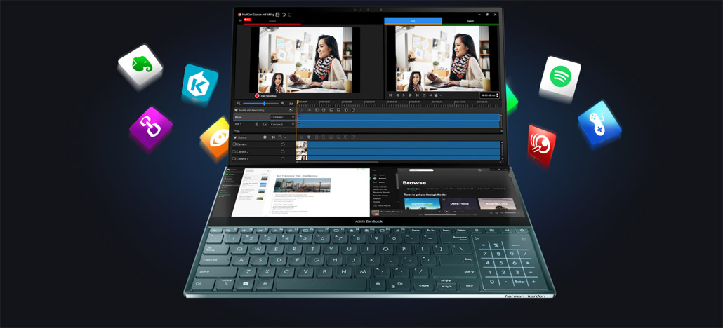 Asus ZenBook Pro Duo é o notebook que tem duas telas 4K, CPU Intel Core i9 e RTX 2060