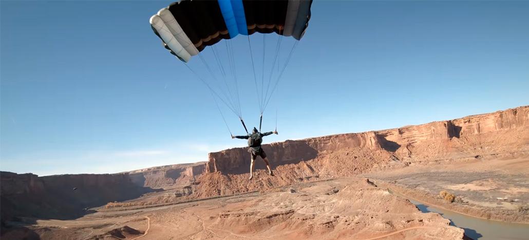 Vídeo vencedor da GoPro Million Dollar Challenge tem drone FPV passando entre um paraquedas