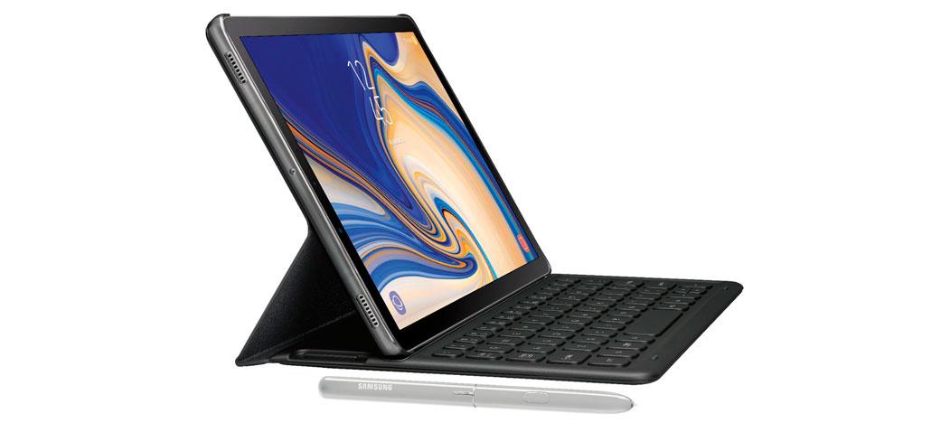 Samsung Galaxy Tab S4 aparece em imagem com capa e S Pen [Rumor]