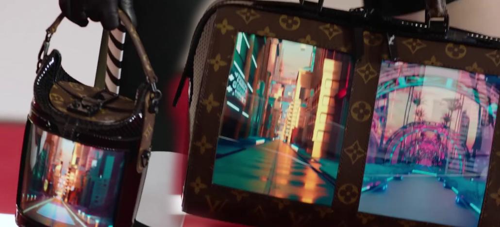 Louis Vuitton lança linha de bolsas tecnológicas com telas flexíveis nas laterais