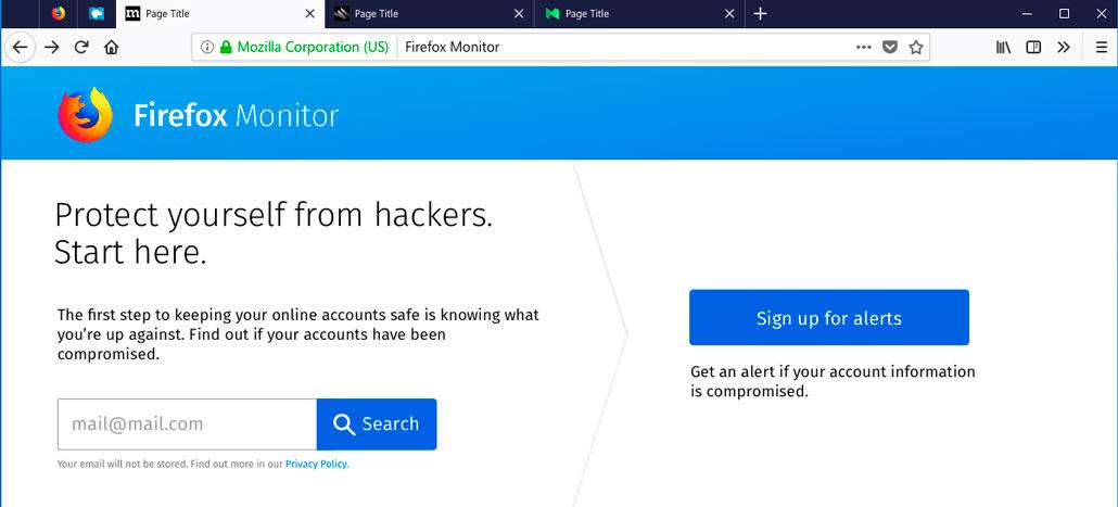 Mozilla Firefox começará testes de ferramenta que permite verificar se você já foi vítima de hackers