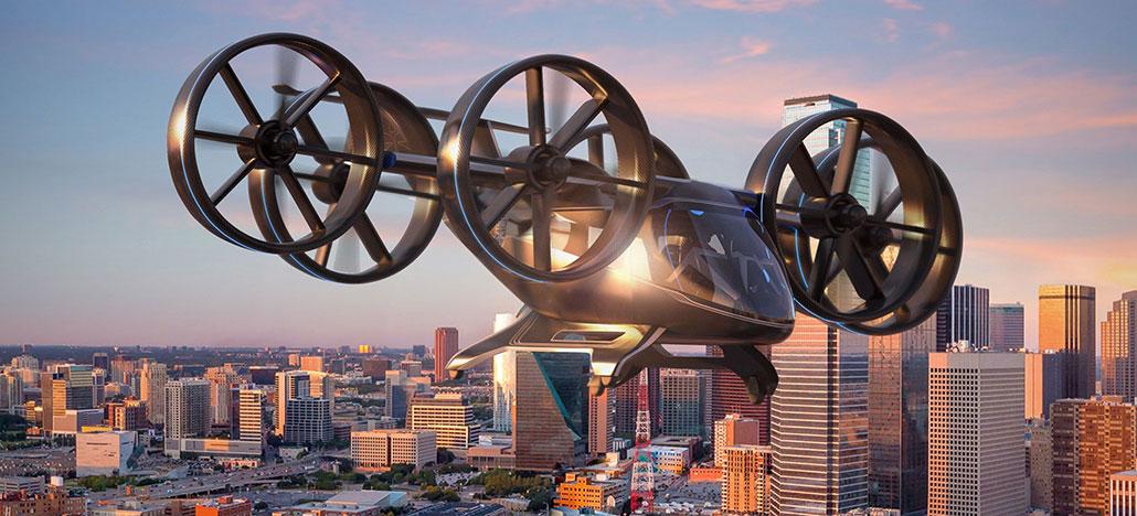 Bell Nexus é um drone táxi híbrido com capacidade de decolagem e pouso na vertical