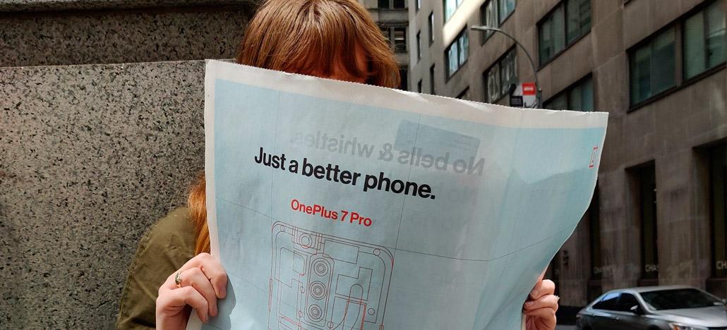 Anúncio publicitário confirma que OnePlus 7 Pro vai ser lançado com câmera retrátil