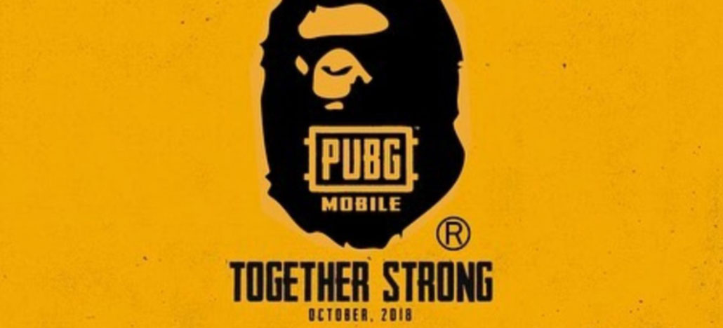 PUBG Mobile revela colaboração com marca de roupas BAPE