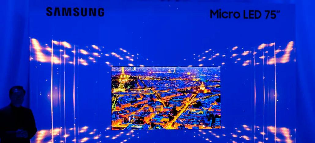 Samsung apresenta TV 4K Micro LED de 75 polegadas, com telas modular encaixáveis