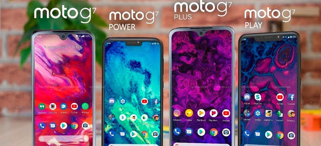 Vazam novas renderizações e preços do Moto G7. G7 Plus, G7 Power e G7 Play