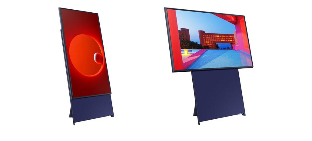 Nova TV da Samsung traz tela vertical de 43 polegadas para ser usada com smartphones