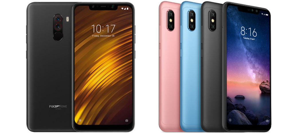 Xiaomi Pocophone F1 e Redmi Note 6 Pro podem chegar por R$3.099 e R$1.999